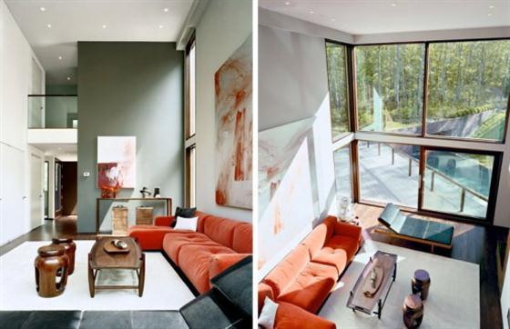 Contemporary Underground Home Design Ideas living Room
