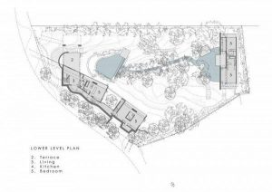 Contemporary Villa Design in South Africa lower level site plan