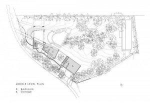 Contemporary Villa Design with Unique Concept second level site plan