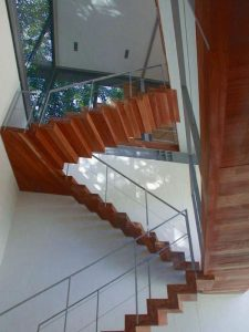 Contemporary Villa with Unique Concept in South Africa stairs design ideas
