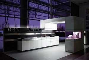Contemporary Violet Kitchen Decorating Inspiration luxury