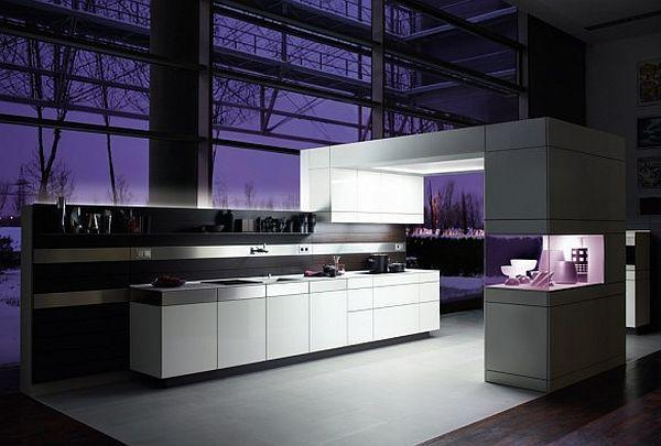 Contemporary Violet Kitchen Decorating Inspiration luxury