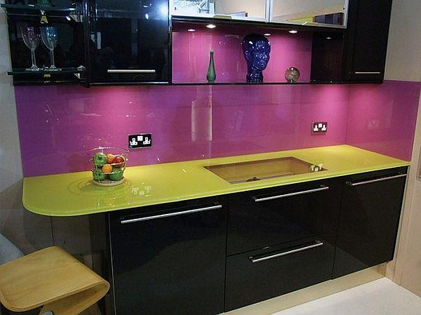 Contemporary Violet Kitchen Decorating Inspiration with desk kitchen set