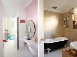 Contemporary Warm Interior Design with Neutral Color Scheme Bathroom