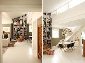 Contemporary Warm Interior Design with Neutral Color Scheme Bookselves