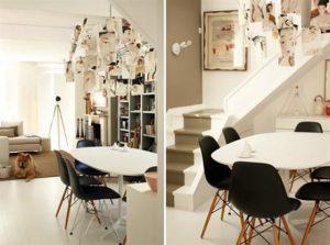 Contemporary Warm Interior Design with Neutral Color Scheme Study Room