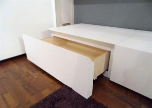 Contemporary hidden Shelves for Minimalist and Modern Bedroom
