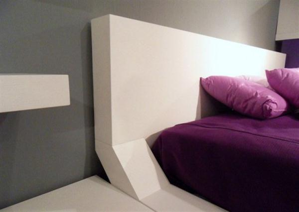 Contemporary white Shelves for Minimalist and Modern Bedroom