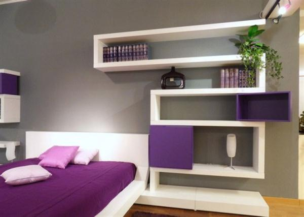 Contemporary zigzag Shelves for Minimalist and Modern Bedroom
