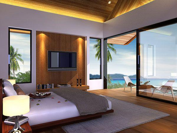 Cool and Amazing Bedrooms Design Overlooking the Sea nice
