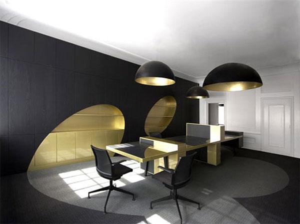 Cool and Cozy Office dark Interior Design Ideas