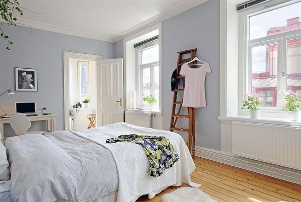 Cool and Cozy White Swedish Apartments Ideas bedroom