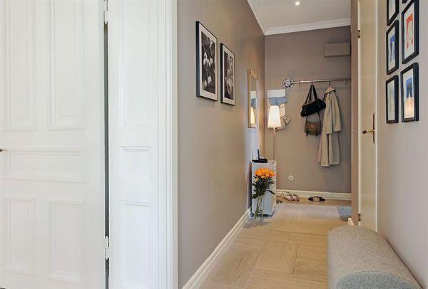 Cool and Cozy White Swedish Apartments Ideas corridor