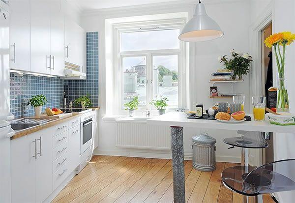 Cool and Cozy White Swedish Apartments Ideas kitchen