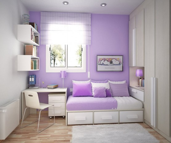 Cool kids bedroom with Contemporary Violet Interior Design Ideas inspirartion
