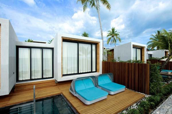 Cozt and Delightful Beachfront Villa Design with green Concept in Thailand