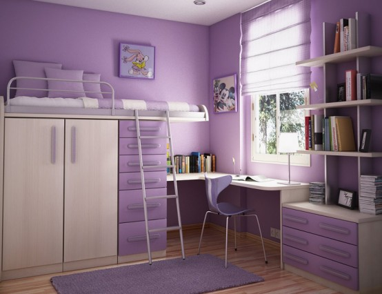 Kids bedroom ideas with Contemporary Violet Interior Design Ideas inspirartion