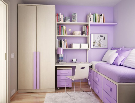 Kids bedroom with Contemporary Violet Interior Design Ideas inspirartion