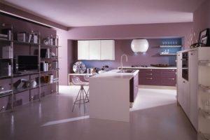 Modern kitchen with Contemporary Violet Interior Design Ideas inspirartion