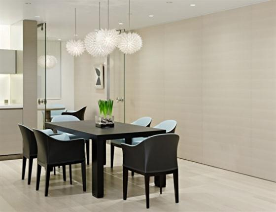 Modern warm dining room apartment design