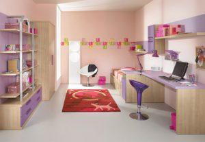Study room with Contemporary Violet Interior Design Ideas inspirartion