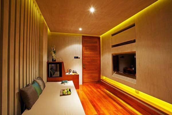 creative livingroom design on Beachfront resort Design with green Concept