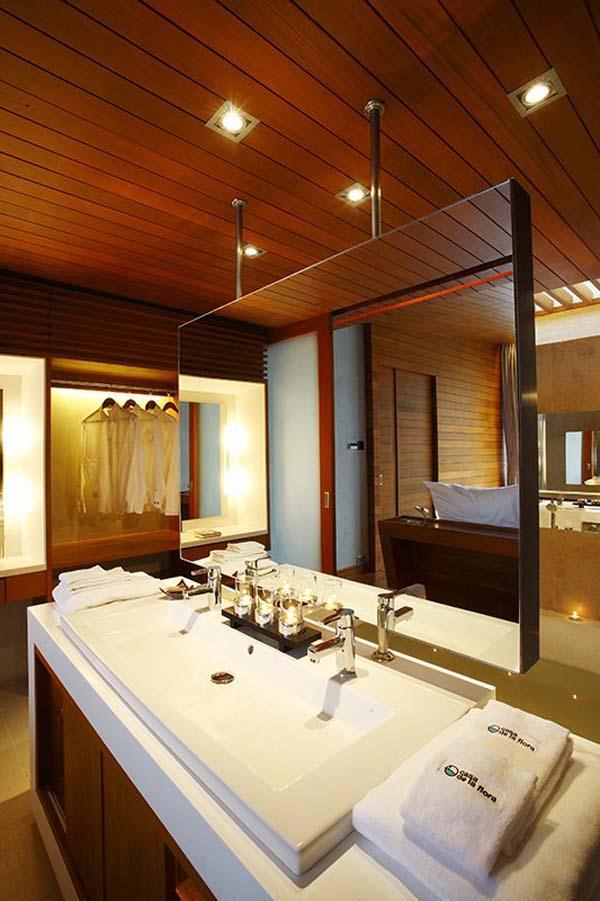 luxurious bathroom on cool Beachfront Villa Design in Thailand