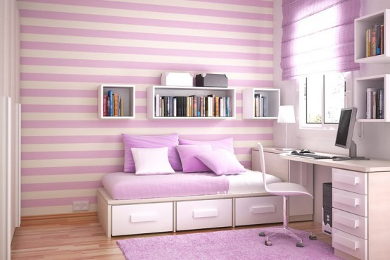 modern kids bedroom with Contemporary Violet Interior Design Ideas inspirartion