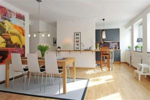 Apartment Design Ideas in Sweden with bright natural concept