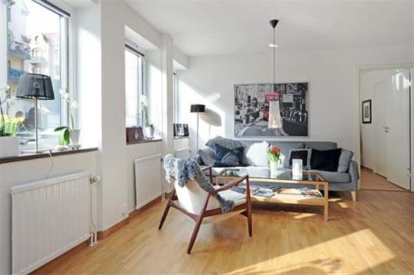 Apartment Design Ideas in Sweden with minimalist concept