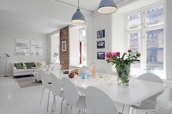 Cool white Apartment interior Design with simple and Stylish Concept