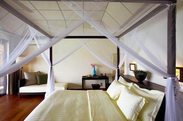 Cozy Lily Resort in Maldives bedding canopy