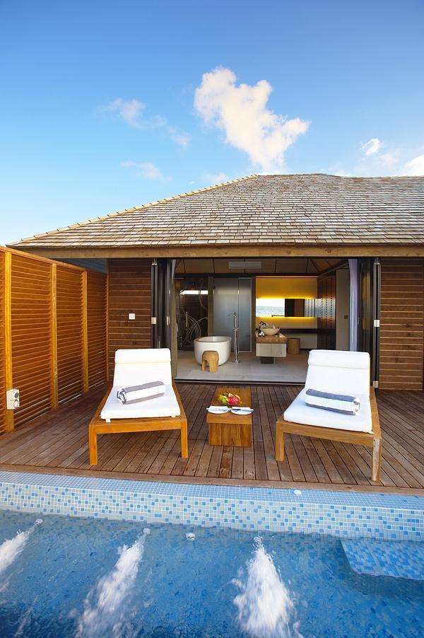 Cozy Lily Resort in Maldives terrace