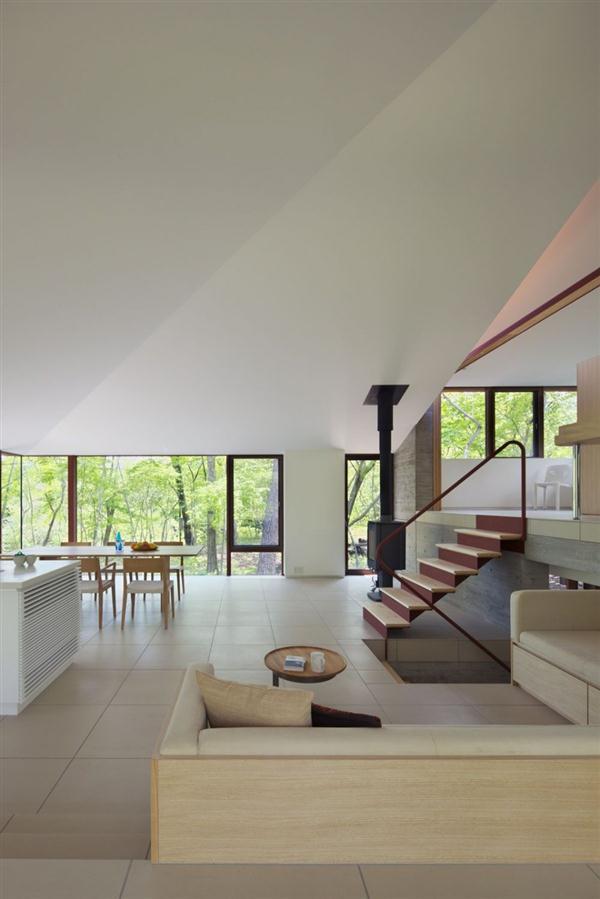 Cozy and Elegant Villa Design Inspiration in Nagano Japan interior design