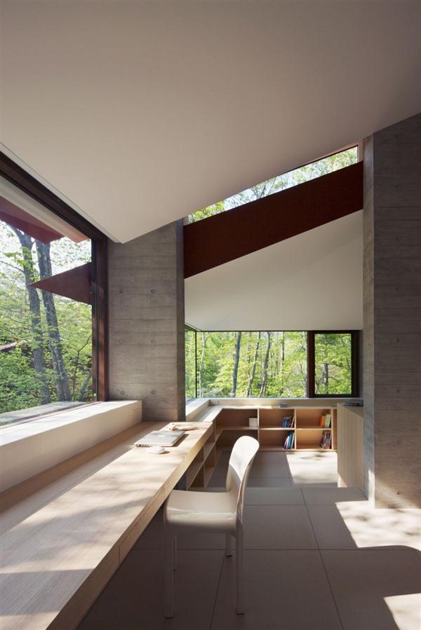 Cozy and Elegant Villa Design Inspiration in Nagano Japan with big window