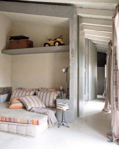 Creative Home with Rustic Design Interior in Ampurdan bedroom
