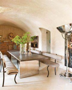 Creative Home with Rustic Design Interior in Ampurdan indoor terrace