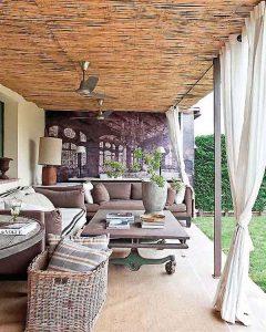 Creative Home with Rustic Design Interior in Ampurdan terrace outdoor