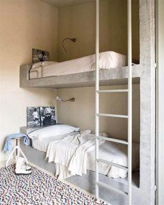 Creative Home with Rustic Design Interior in Ampurdan twinbed