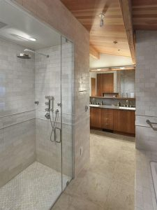 Creative Wooden House Design Ideas by MacCracken Architects bathroom