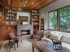 Creative Wooden House Design Ideas by MacCracken Architects reading corners