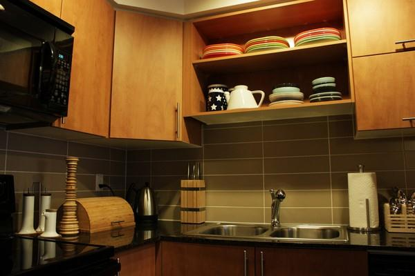 Creative and Modern Japanese Apartment Design Inspiration kitchen set