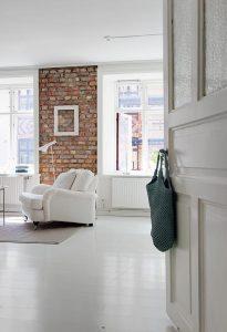Delightful Apartment Design with creative brick walls ideas