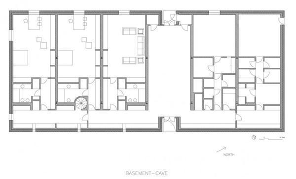 Delightful White Villa Design in New York basement siteplan