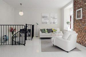 Delightful livingroom Design with White Stylish Concept