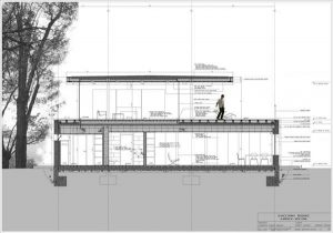 Lovable White Villa Design in New York siteplan