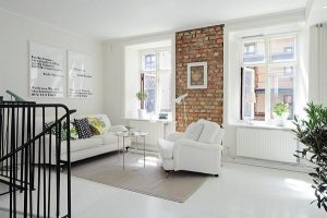 Luxurious Apartment duplex Design with White Stylish Concept