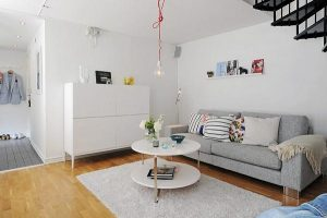 Spacious hall on Apartment Design with White Stylish Concept by Alvhem