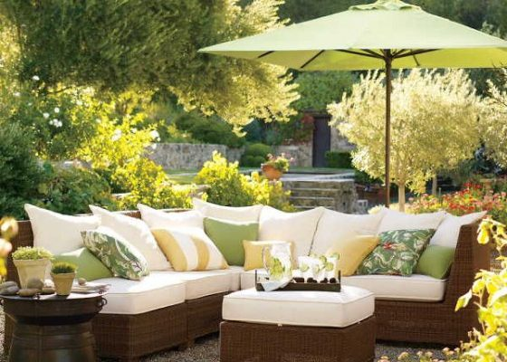 Cool Outdoor Sofa Chair Furniture Ideas – Palmetto All-Weather Wicker Sectional
