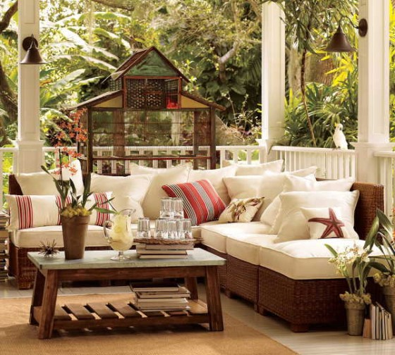 all weather wicker sectional outdoor sofa